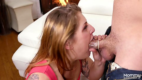 Intimate milf Fallon West deoing deep throat with condomized dick and it wont fint any further