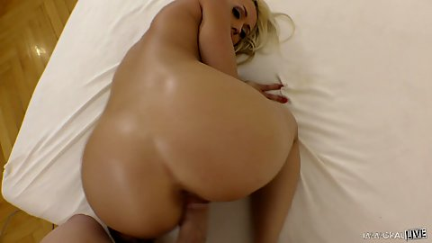 Rear entry polowing a nice sexy lips blonde Christina Shine