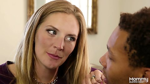 Stepmom milf Mona Wales wants to try to daughters black cock