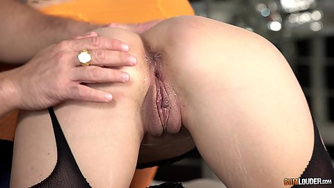 Hairless wet cunt from learning the art of sex school Cata Blum proceeding to suck dick