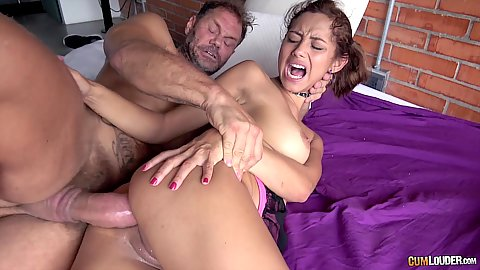 Huge cock geting rammed down the anus of a Colombian scintillating Verónica Orozco then some raised legs frontal nailing