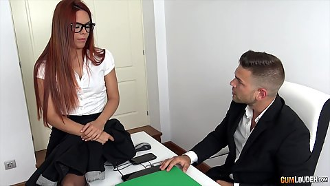 Gala Brown is looking for new work at the office but most she is looking to suck some dick