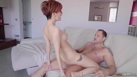 Hairy cunt and short redhead medium boobed fair skinned slut Caomei Bala