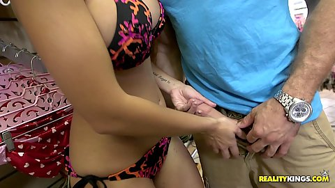 Dylan Daniels and Anya Olsen with Lucy Doll girls in sexy clothes tore looking to touch some dick