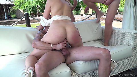 Hard fucking gang bang academy outdoor girl Linda Leclair