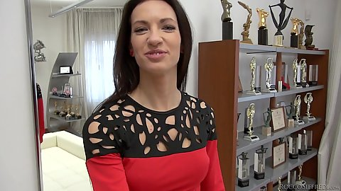 Tasty sd 1is here to audition for Rocco and he probes her butt hole with index finger in pov