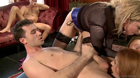 Sex analysts hard dick blowing and orgy Dahlia Sky and Maddy O and Kelly Stafford