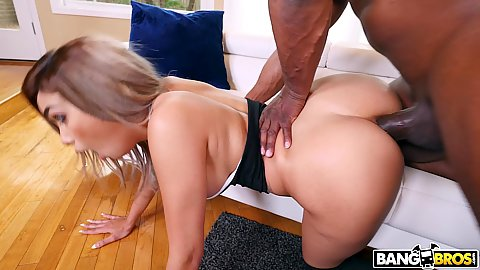 Rear boning in the ass and pussy of stepdaughters Aaliyah Hadid unused anal hole