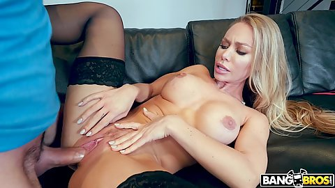 Delighted stepmom Nicole Aniston so happy to get a mothers day present that her stepson ploughs her away