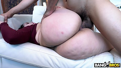 Big bubbly bootie latina Alycia Starr pussy screwed and ejaculating some jizz on her face