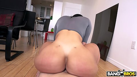 Bubble wobble juicy body half dressed in pov Valerie Kay reverse cowgirl cock humping