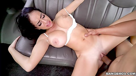 Victoria June enjoys it when she is slammed against the backseat of our van hard and fast no mercy and definitely facial cumshot at the end