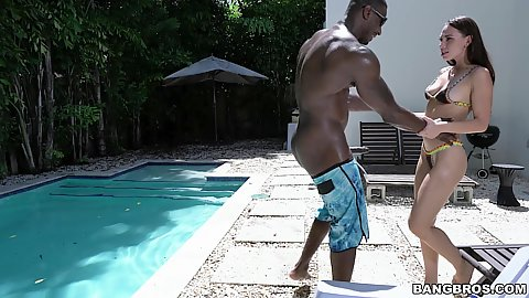 Interracial stepsiblings Aidra Fox and her big black cocked stepbro get nasty and do in the air 69