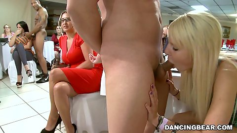 Sucking some dick a nice cock swinging party is every girls dream