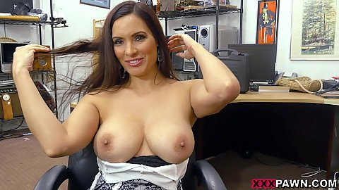 After this resplendant latina amteur milf Sophie Leon showed us her boobies in the office she knelt down to give oral