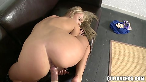 Firm booty blonde euro casting chick Ivana Sugar fucked from behind