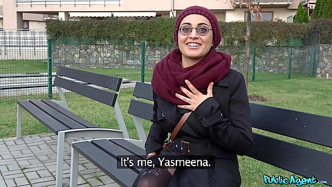 Arab Yasmeena was nice enough to start up a conversation with us until we offered her some dick sucking for cash in pov