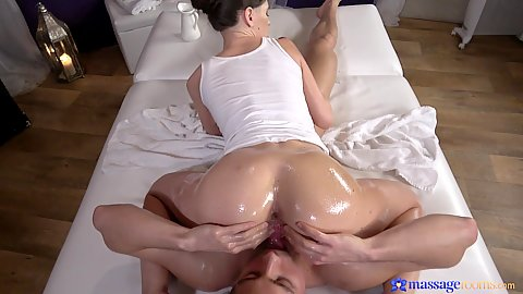 Great oiled up booty on face sitting with 69 and reverse cowgirl from Lana Seymour working on that stiff dick