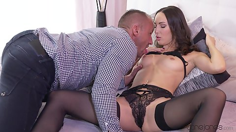 Russian Lilu Moon is al out in accepting cock position with her legs way open and looking to get close up licked