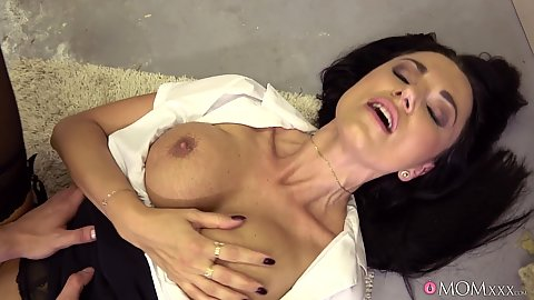 Immaculate Polish stepmommy milf Ania Kinski rammed half clothed by dudes dick causing her to squirt and gush out all that love