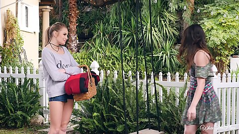 outdoor girls want to go the swings to feel like whores again Scarlett Sage and Alison Rey