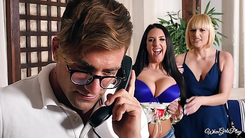Two girls want to do massage at the spa Kate England and Angela White