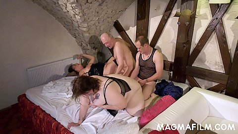 Bbw wife and other mature women swingers club grou fucking and swapping familiar pussies around