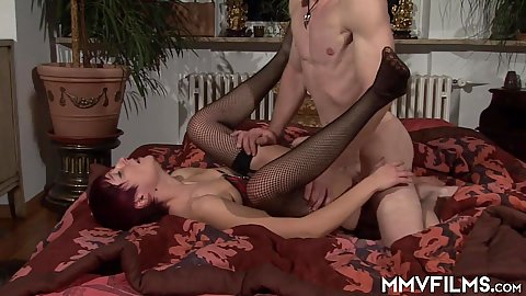 Frontal pounding short haired raisd legs amateur mature mistress for her master that like teabagging her mouth with his sack