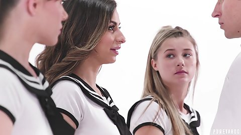 Gracie May Green and Nina North with Alison Rey and Whitney Wright  18 year old young school girls fucking guy wearing little skirts