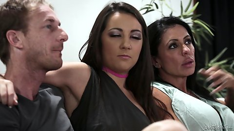 Feature film of a stepmother and stepdaughter having a relaxing evening and stepdaughter stealing her man Simone Garza and Lily Adams