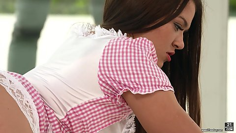 Sexy maid in our mansion Cherry Candy seems to be more of a babe with bubble butt if anything else