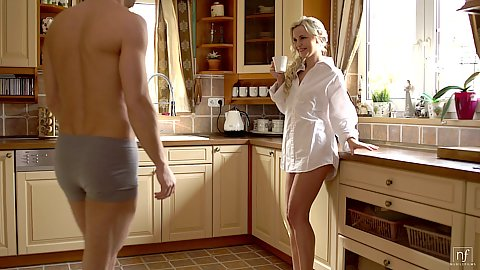 Dido Angel greating her bf in the morning wearing hsi shirt ready to give him that morning pussy he desires