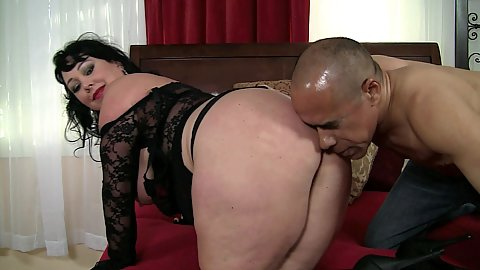 Really big ass mature with big boobs dark haired milf ass and pussy licked with fellatio after with Alexis