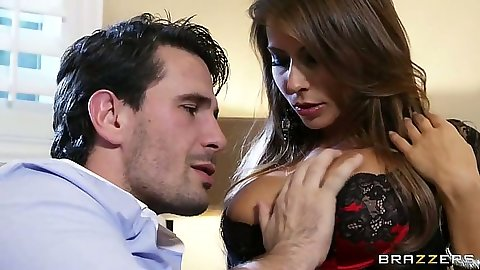 Sexy babe Madison Ivy touched undressed and vagina licked