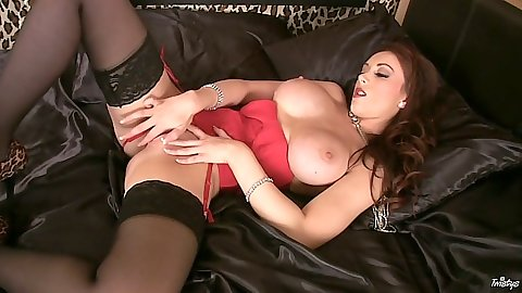 Danielle spreading her legs and softcore masturbation