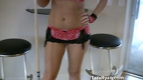 Solo sexy lingerie girl working a switck