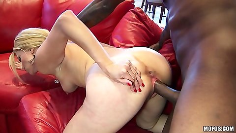 Milf small tits interracial sex with petite blonde Sadie Sable