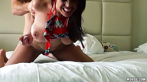 Latina Stacey Foxxx fucked from behind like a dog that she is
