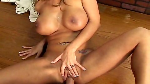 Front penetration with big tits pierced clit slut