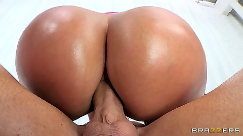 Cowgirl anal oil milf sex and ass to mouth dick cleaning from Mellanie Monroe