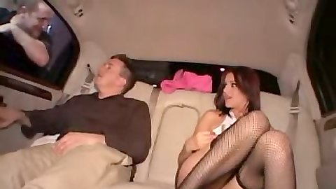 Teen petite Naudia Nyce with no panties riding the limo fuck