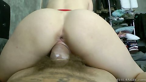 Reverse cowgirl great ass view and licking balls Pamela Sanchez