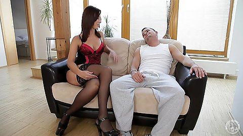 Lingerie blowjob and sucking from Simona Style